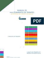 Manual de Procedimientos de Tramites Del Registro de Comercio de Bolivia 2018