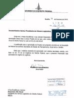 PL 1.899/2018 de Rollemberg para suplementação de recurso ao GDF