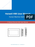 User's Manual of Haiwell C Series Ethernet HMI