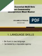 Three Essential Skill Sets That Community Interpreters Must Master