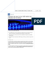 Alertan de Que La Luz LED Daña Las Células de La Retina