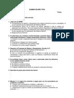 EXAMEN DE BPM Y PHS