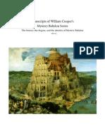 Transcripts of William Cooper's Mystery Babylon Series