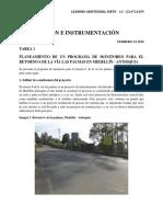 Tarea 1. Planeación Programa de Monitoreo