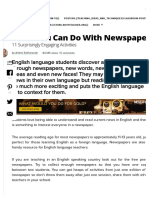 What You Can Do With Newspapers_ 11 Surprisingly Engaging Activities