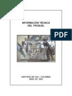Módulo Información Técnica Del Troquel