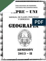 Cepre UNI - Geografía
