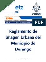Reglamento de Imagen Urbana dgo.
