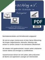Flyer Poetry Slam am 06.10.2010 im Parkhaus Meiderich
