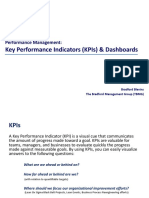 Key Performance Indicators (KPIs) & Dashboards