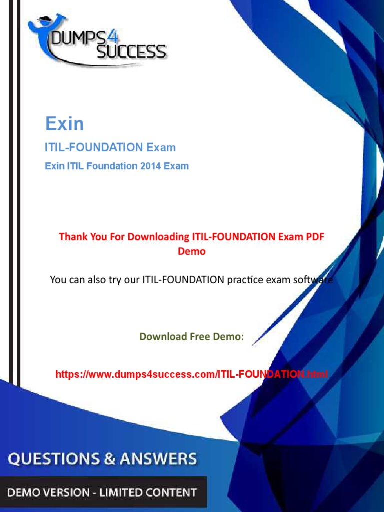 Itil Foundation Demopdf Business Process Itil