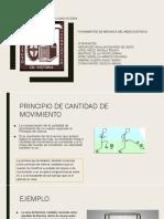 PRINCIPIO DE CANTIDAD DE MOVIMIENTO
