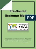 Pre Course Grammar Module