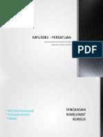 MPU3081 - PERSATUAN
