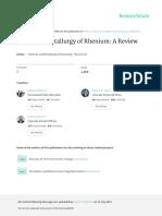 Extractive Metallurgy of Rhenium a Review