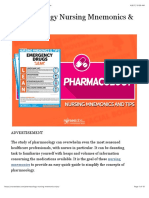 Pharmacology Nursing Mnemonics & Tips • Nurseslabs