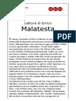 Rivista Anarchica Online - Lettura Di Errico Malatesta