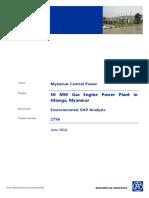 Myanmar Gas Powerplant EIA