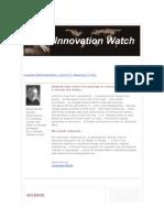 Innovation Watch Newsletter 9.19 - September 11, 2010