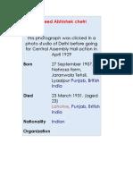 Martyr Bhagat Singh