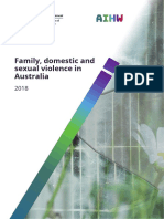 AIHW Family, domestic and sexual violence in Australia, 2018
