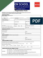 LSAF - Registration Form