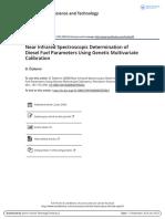 2008 NIR Spectroscopic Determination of Diesel Fuel Parameters Using Multivariate Calibration