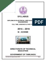 2016 m Scheme Syllabus