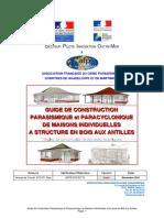 AFPS Guide Technique 2011 Construction Parasismique Paracyclonique Maisons Individuelles Bois Antilles Version 2011