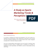 Sports Marketing Trends & Perceptions