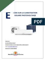 Etude Sur La Climatisation Solaire Photovoltaiqe