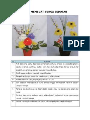 Cara Membuat Bunga Sedotan