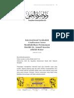 International Syahadah Conference terus Membuktikan Perjuangan Sheikh Dr. Ismail Kassim adalah Benar