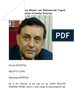 Dr. Sanjay Kumar Biswas and Rabindranath Tagore International Institute of Cardiac Sciences