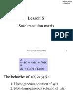 Lesson 6 State transition matrix