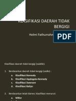 4. Klasifikasi Daerah Tidak Bergigi