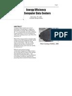 Efficiency in Data Centers-Energy Engineering 8-06