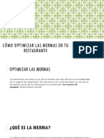 como optimizar mermas en tu restaurante
