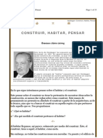 Heidegger Heidegger Constuir Habitar Pensar