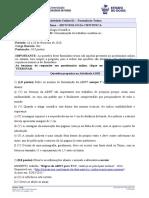 Formulario Treino - AO01