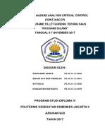 Hazard Analysis Critical Control Point Ikan Gurame Tepung Saus Thausand Island