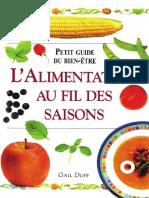 Alimentation Au Fil Des Saisons Livre de Cuisine