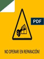 No Operar! en Reparación!