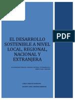El Desarrollo Sotenible en El Peru