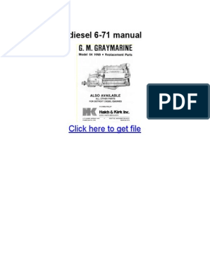 Gm detroit diesel 6-71 manual pdf   General Motors Vehicles