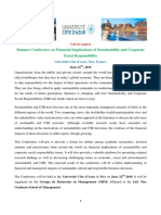 Financial Impacts of Sustainability and CSR 1