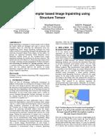 Improved Exemplar based image inpaiting using structure tensor.pdf