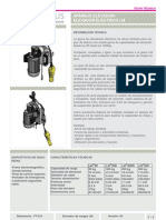 Elevador de cargas, cabestrante, polipasto, LM