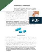 Vias de Administracion de Los Medicamentos