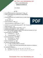 CBSE Class 12 Phyiscs - Electrostatics Formulae